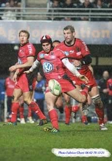 Photo d'Alexis Palisson, rugby club de Toulon