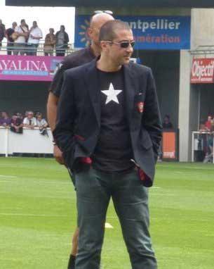 Mourad Boudjellal, au stade Yves du Manoir de Montpellier