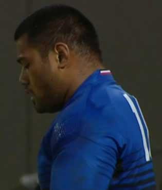 le jeune rugbyman Christopher Tolofua