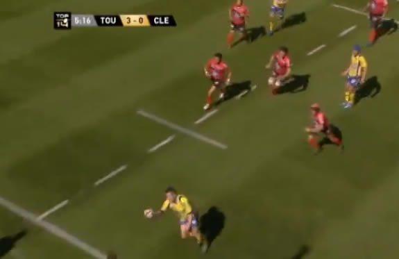 Julien Malzieu de l'ASM rugby