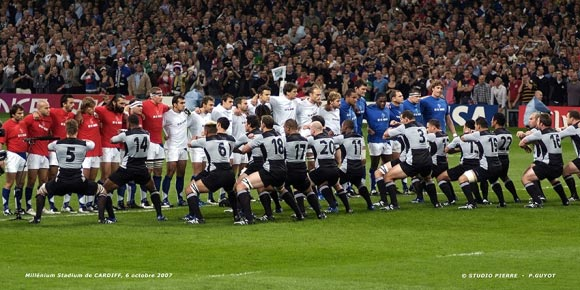Haka des All Blacks face au XV de France