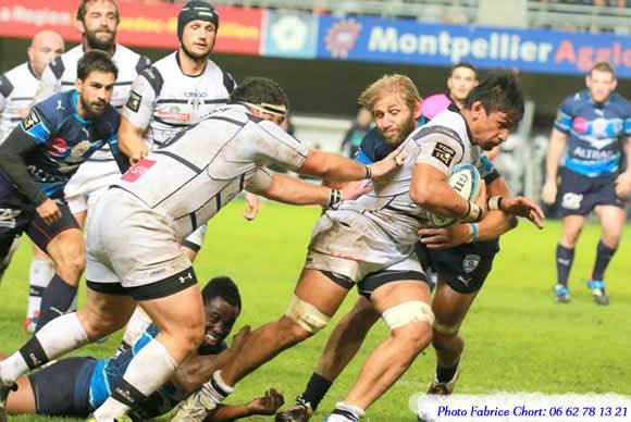 match de rugby entre Montpellier et Brive